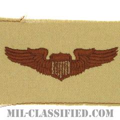 航空機操縦士章 (パイロット)(Air Force Pilot Badge)[デザート/パッチ]の画像