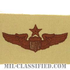 航空機操縦士章 (シニア・パイロット)(Air Force Senior Pilot Badge)[デザート/パッチ]の画像