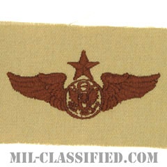 航空機搭乗員章 (下士官用シニア・エアクルー)(Air Force Enlisted Senior Aircrew Badge)[デザート/パッチ]の画像