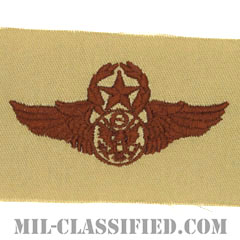 航空機搭乗員章 (下士官用マスター・エアクルー)(Air Force Enlisted Master Aircrew Badge)[デザート/パッチ]の画像