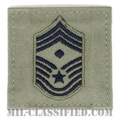 先任最上級曹長(First Sergeant (E-9))[ABU/空軍階級章/ベルクロ付パッチ]の画像