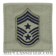 部隊先任最上級曹長(Command Chief Master Sergeant)[ABU/空軍階級章/ベルクロ付パッチ]の画像