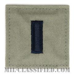 中尉(First Lieutenant (1LT))[ABU/空軍階級章/ベルクロ付パッチ]の画像