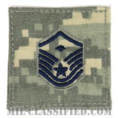 先任曹長(First Sergeant (E-7))[UCP(ACU)/空軍階級章/ブルー刺繍/ベルクロ付パッチ]の画像