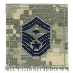 先任上級曹長(First Sergeant (E-8))[UCP(ACU)/空軍階級章/ブルー刺繍/ベルクロ付パッチ]の画像
