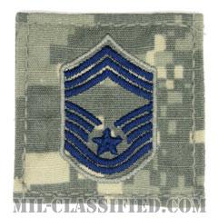 最上級曹長(Chief Master Sergeant)[UCP(ACU)/空軍階級章/ブルー刺繍/ベルクロ付パッチ]の画像