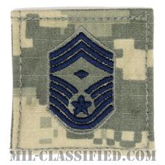先任最上級曹長(First Sergeant (E-9))[UCP(ACU)/空軍階級章/ブルー刺繍/ベルクロ付パッチ]の画像