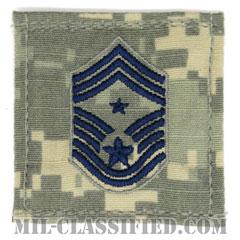 部隊先任最上級曹長(Command Chief Master Sergeant)[UCP(ACU)/空軍階級章/ブルー刺繍/ベルクロ付パッチ]の画像