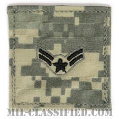 一等空兵(Airman First Class)[UCP(ACU)/空軍階級章/ブラック刺繍/ベルクロ付パッチ]の画像