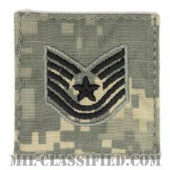 技能軍曹(Technical Sergeant)[UCP(ACU)/空軍階級章/ブラック刺繍/ベルクロ付パッチ]の画像