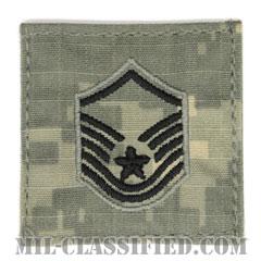 曹長(Master Sergeant)[UCP(ACU)/空軍階級章/ブラック刺繍/ベルクロ付パッチ]の画像