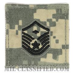 先任曹長(First Sergeant (E-7))[UCP(ACU)/空軍階級章/ブラック刺繍/ベルクロ付パッチ]の画像