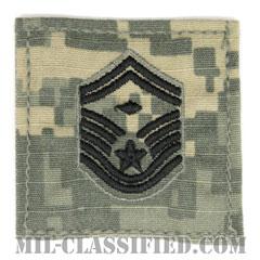 先任上級曹長(First Sergeant (E-8))[UCP(ACU)/空軍階級章/ブラック刺繍/ベルクロ付パッチ]の画像