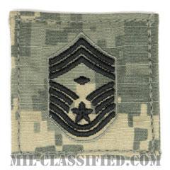 先任最上級曹長(First Sergeant (E-9))[UCP(ACU)/空軍階級章/ブラック刺繍/ベルクロ付パッチ]の画像