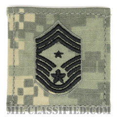 部隊先任最上級曹長(Command Chief Master Sergeant)[UCP(ACU)/空軍階級章/ブラック刺繍/ベルクロ付パッチ]の画像
