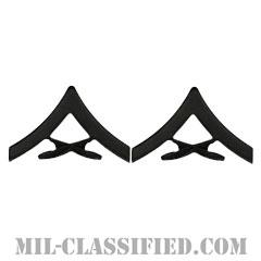 上等兵(Lance Corporal (LCpl))[サブデュード(ブラックメタル)/海兵隊階級章/バッジ/ペア(2個1組)]の画像