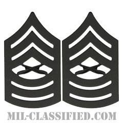 曹長(Master Sergeant (MSgt))[サブデュード(ブラックメタル)/海兵隊階級章/バッジ/ペア(2個1組)]の画像