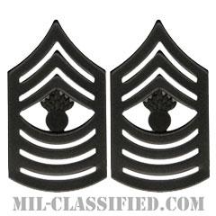 上級曹長(Master Gunnery Sergeant (MGySgt))[サブデュード(ブラックメタル)/海兵隊階級章/バッジ/ペア(2個1組)]の画像