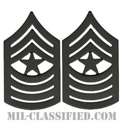 最上級曹長(Sergeant Major (SgtMaj))[サブデュード(ブラックメタル)/海兵隊階級章/バッジ/ペア(2個1組)]の画像
