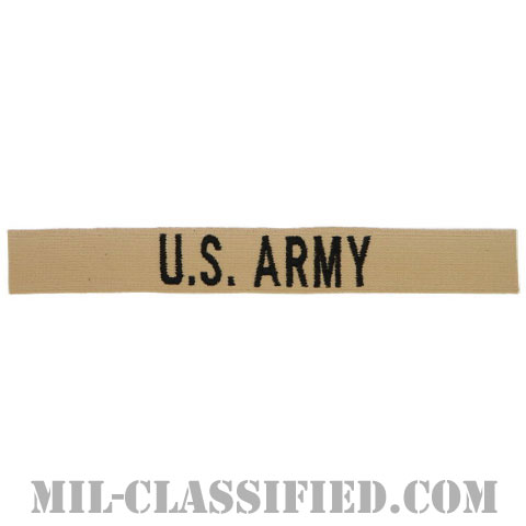 U.S.ARMY [デザート/ブラック刺繍/ネームテープ/パッチ]の画像