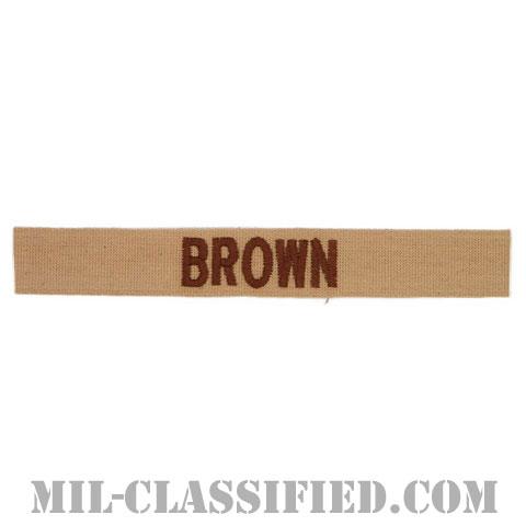 BROWN [デザート/ブラウン刺繍/ネームテープ/パッチ]の画像