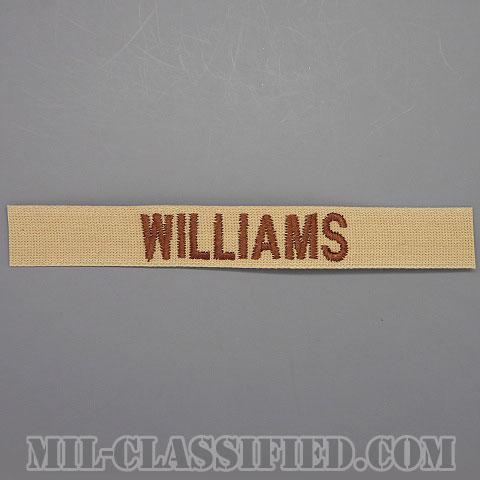 WILLIAMS [デザート/ブラウン刺繍/ネームテープ/パッチ]画像