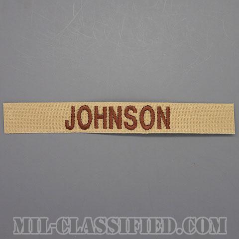 JOHNSON [デザート/ブラウン刺繍/ネームテープ/パッチ]の画像