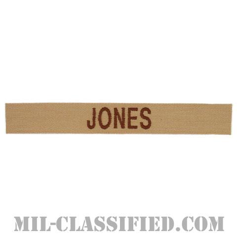 JONES [デザート/ブラウン刺繍/ネームテープ/パッチ]の画像