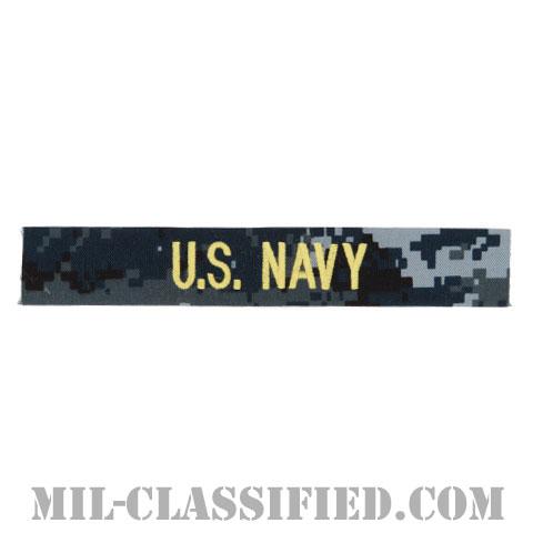 U.S.NAVY [NWU Type1/ゴールド刺繍/海軍ネームテープ/生地テープパッチ]の画像