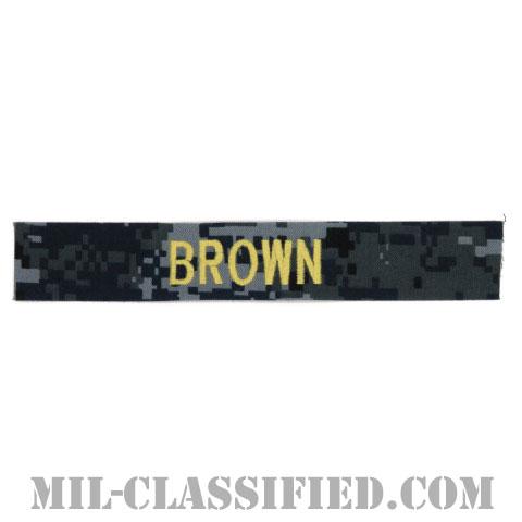 BROWN [NWU Type1/ゴールド刺繍/海軍ネームテープ/生地テープパッチ]の画像