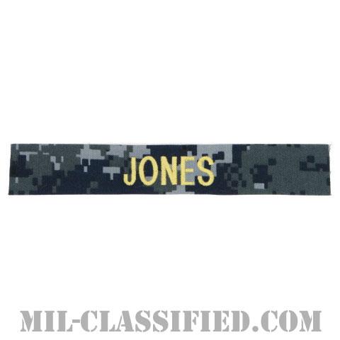JONES [NWU Type1/ゴールド刺繍/海軍ネームテープ/生地テープパッチ]の画像
