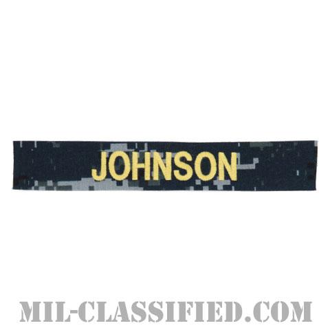 JOHNSON [NWU Type1/ゴールド刺繍/海軍ネームテープ/生地テープパッチ]の画像
