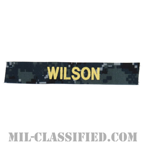 WILSON [NWU Type1/ゴールド刺繍/海軍ネームテープ/生地テープパッチ]の画像