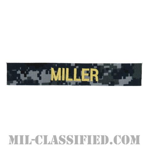 MILLER [NWU Type1/ゴールド刺繍/海軍ネームテープ/生地テープパッチ]の画像