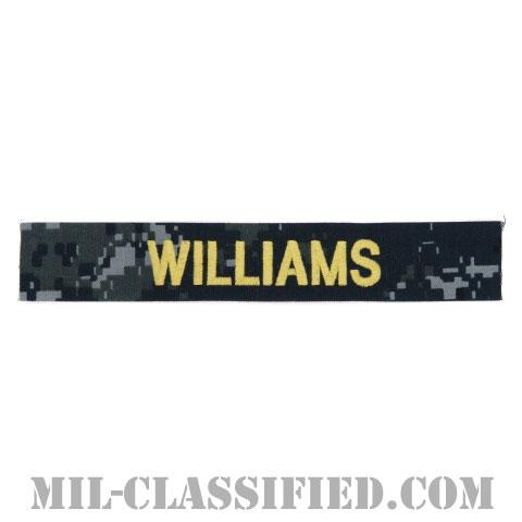 WILLIAMS [NWU Type1/ゴールド刺繍/海軍ネームテープ/生地テープパッチ]の画像