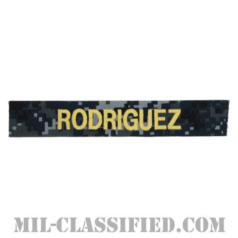 RODRIGUEZ [NWU Type1/ゴールド刺繍/海軍ネームテープ/生地テープパッチ]の画像