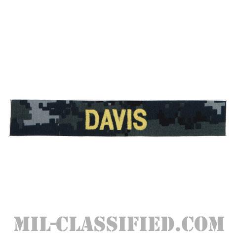 DAVIS [NWU Type1/ゴールド刺繍/海軍ネームテープ/生地テープパッチ]の画像