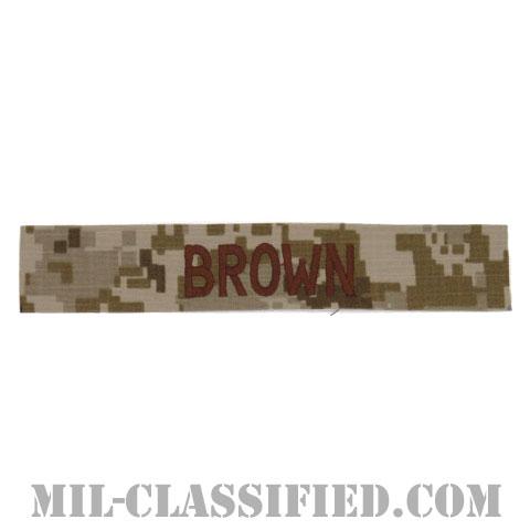 BROWN [NWU Type2(AOR1)/海軍ネームテープ/生地テープパッチ]の画像