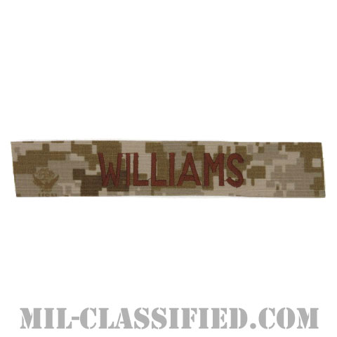 WILLIAMS [NWU Type2(AOR1)/海軍ネームテープ/生地テープパッチ]の画像