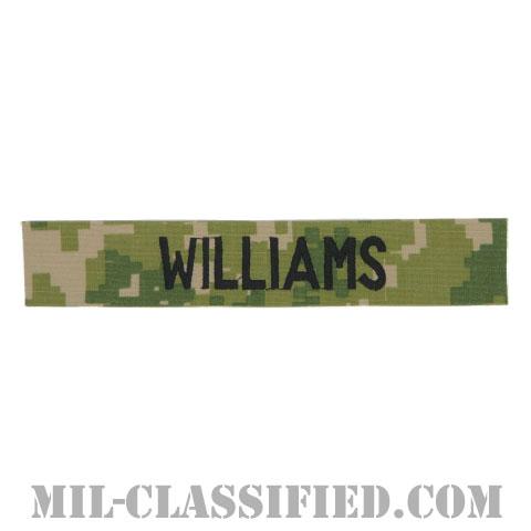 WILLIAMS [NWU Type3(AOR2)/海軍ネームテープ/生地テープパッチ]の画像