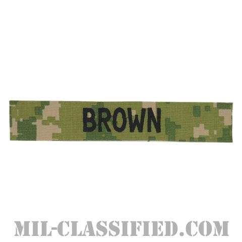 BROWN [NWU Type3(AOR2)/海軍ネームテープ/生地テープパッチ]の画像