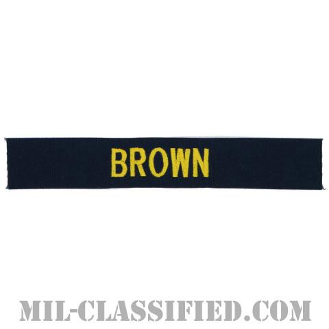 BROWN [カバーオール用/ゴールド刺繍/海軍ネームテープ/生地テープパッチ]の画像