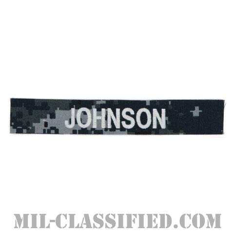 JOHNSON [NWU Type1/シルバー刺繍/海軍ネームテープ/生地テープパッチ]の画像