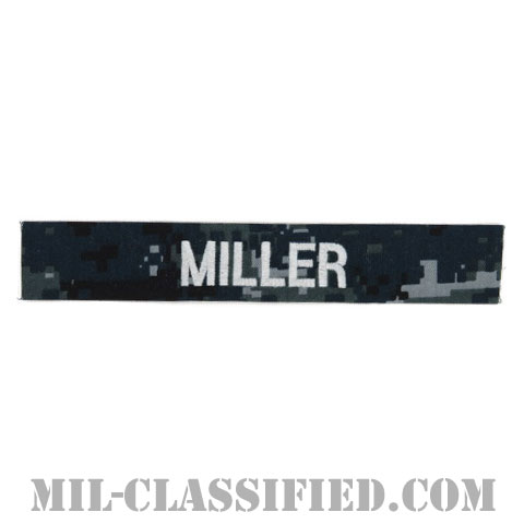 MILLER [NWU Type1/シルバー刺繍/海軍ネームテープ/生地テープパッチ]の画像