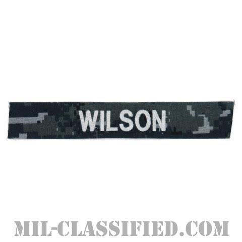 WILSON [NWU Type1/シルバー刺繍/海軍ネームテープ/生地テープパッチ]の画像