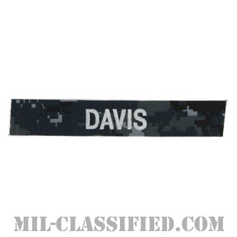 DAVIS [NWU Type1/シルバー刺繍/海軍ネームテープ/生地テープパッチ]の画像