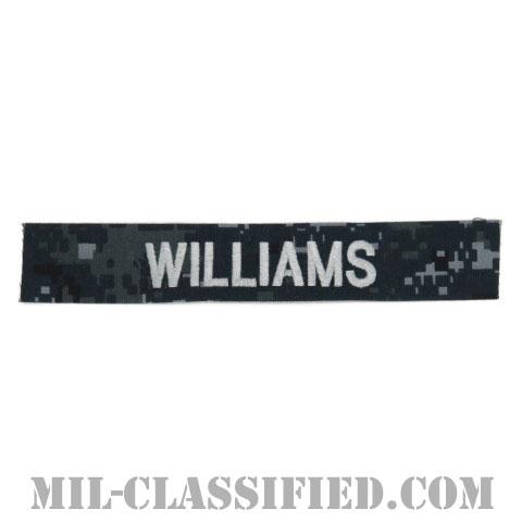 WILLIAMS [NWU Type1/シルバー刺繍/海軍ネームテープ/生地テープパッチ]の画像