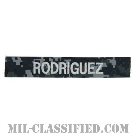 RODRIGUEZ [NWU Type1/シルバー刺繍/海軍ネームテープ/生地テープパッチ]の画像