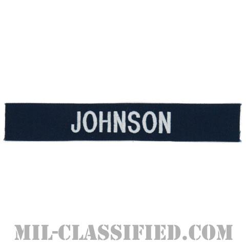 JOHNSON [カバーオール用/シルバー刺繍/海軍ネームテープ/生地テープパッチ]の画像