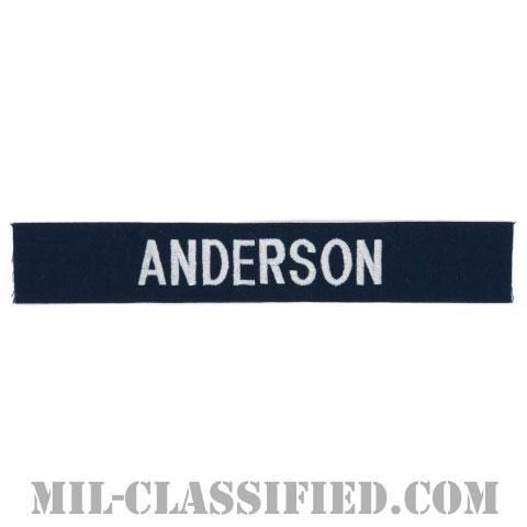 ANDERSON [カバーオール用/シルバー刺繍/海軍ネームテープ/生地テープパッチ]の画像